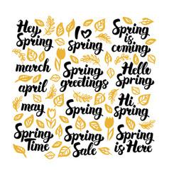 Spring handwritten lettering vector