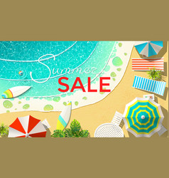 summer sale announcement on beach vector image