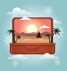 summer vacation in winter planning winter vector image