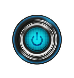 techno futuristic start power button vector image