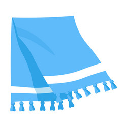 Towel for kitchen or clean cotton with tassels vector