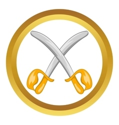 Toy swords icon vector image
