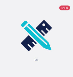 Two color de icon from creative pocess concept vector