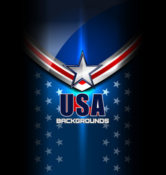 Usa flag star backgrounds vector