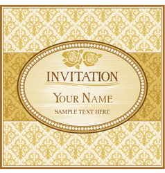 Vintage background and frame with sample text vector