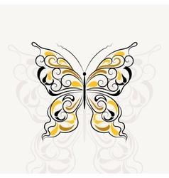 Vintage pattern in shape of a butterfly vector