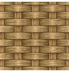 Vintage wooden basket vector