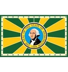 Washington state sun rays banner vector image