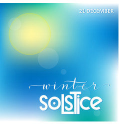 winter solstice lettering vector image