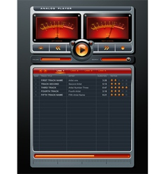 Analog Stereo MP3 Music Media Player vector image vector image
