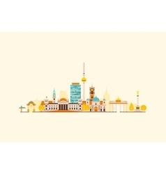 Berlin abstract skyline vector image vector image