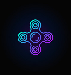 fidget spinner blue icon vector image vector image