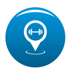 gym map pointer icon blue vector image