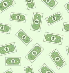 Seamless texture with american money dollars vector image