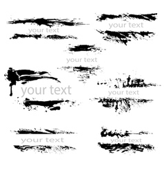 Set of black borders isolated on white background vector image
