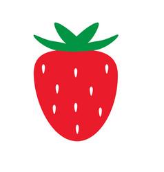 strawberry icon on white background strawberry vector image