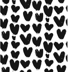 painted heart pattern vector image vector image