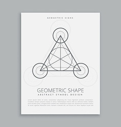 sacred geometric alchemy symbol poster vector image