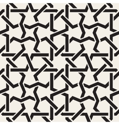 Seamless Black White Geometric Inrerlacing vector image