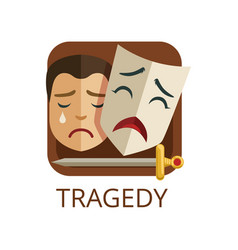 Tragedy cinema or theatre genre cinematography vector