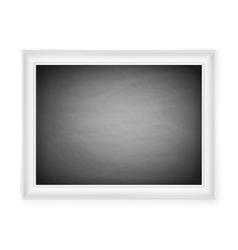 Blank chalkboard in light frame EPS 10 vector image