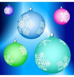 Cristmas balls decoration vector image