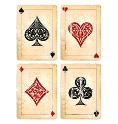 Decrepit playing cards set vector