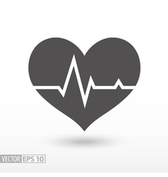 Heart beat - flat icon vector image