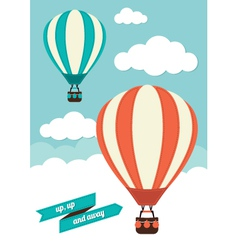 Hot Air Balloon Graphic vector image