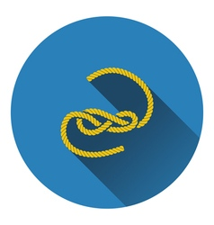 Icon of rope vector image