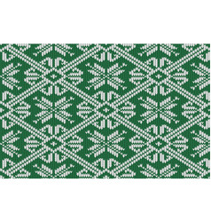 norwegian knitted pattern with snowflakes vector image vector image