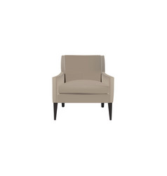 realistic armchair element of vector image