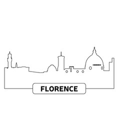cityscape of florence vector image vector image