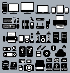 Computers and peripherals vector