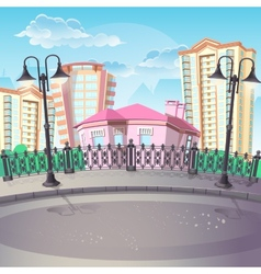 Image of City Quay with lanterns vector image