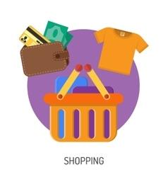 Internet Shopping Flat Icons vector image