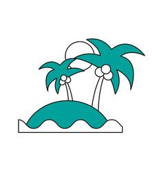 sea island beach palms vector image vector image