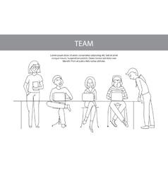 Teamwork team concept vector image vector image