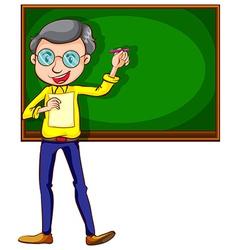 A sketch of a male teacher vector