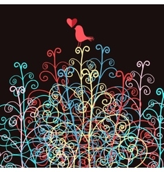 Abstract and Bird in love vector image