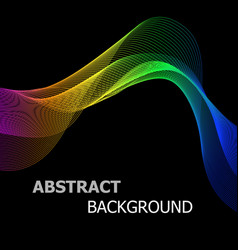 abstract background with colourful line wave vector image