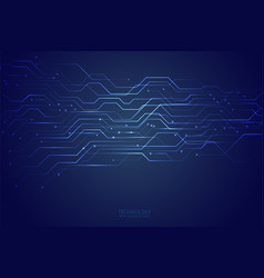 abstract blue technological background design vector image