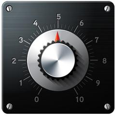 analog regulator control interface vector image