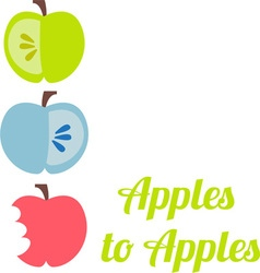 Apples to vector