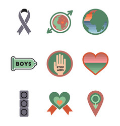 Assembly flat icons gay symbols vector