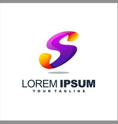 awesome letter s logo design vector image