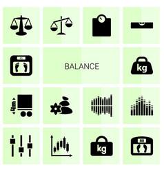 Balance icons vector