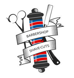 Barbershop and hair salon symbol design vector