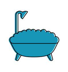 Bathtub service isolated icon vector