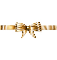 Beautiful striped golden shiny bow vector